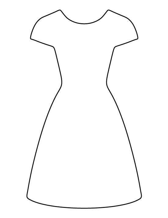 Simple Dress Pattern Printable