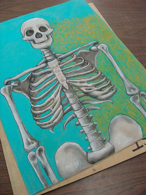 School Background Colored Pencil Sketch Drawings