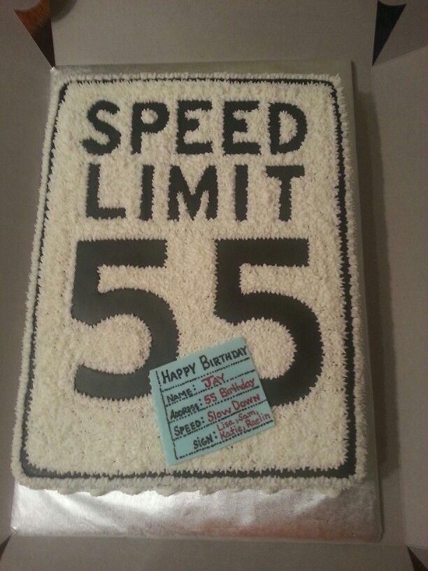 Speed Limit 55 Birthday Decorations