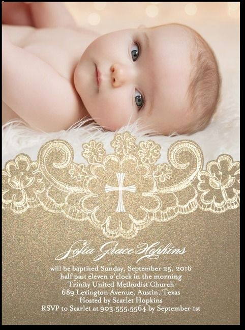 Beautiful Christening Invitations