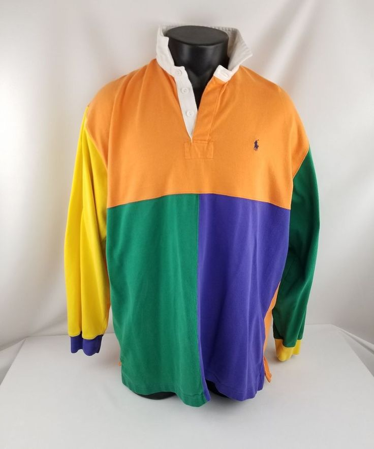 Mens Multi Colored Long Sleeve Rugby Shirts