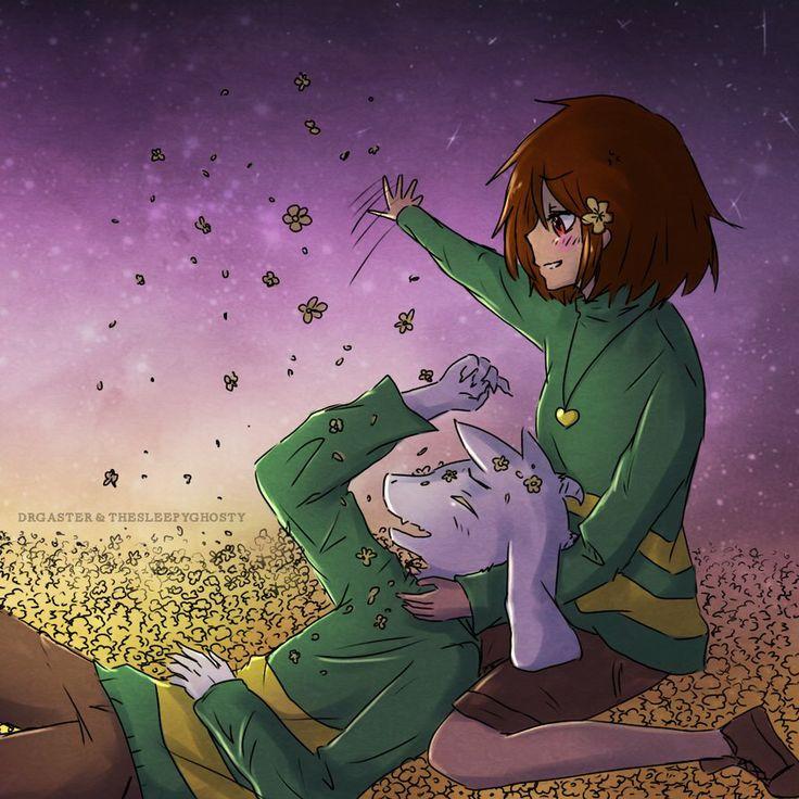 X Asriel Undertale Chara