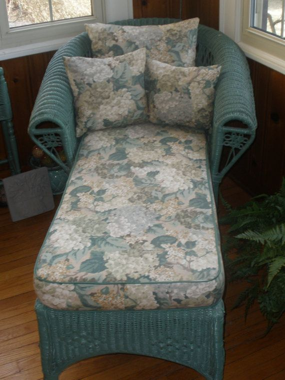 Reserved Wicker Chaise Lounge With Cushion Amp Pillows