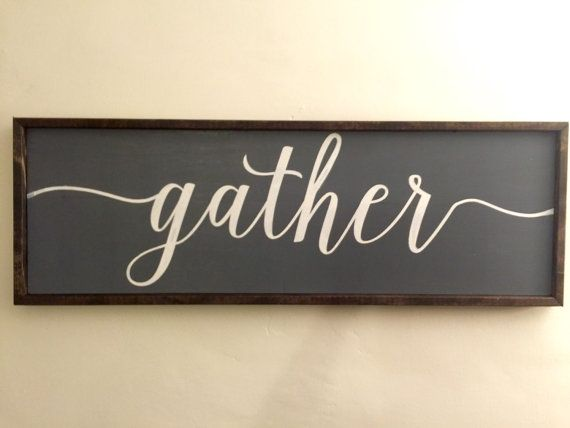Large Wooden Signs Home Decor
