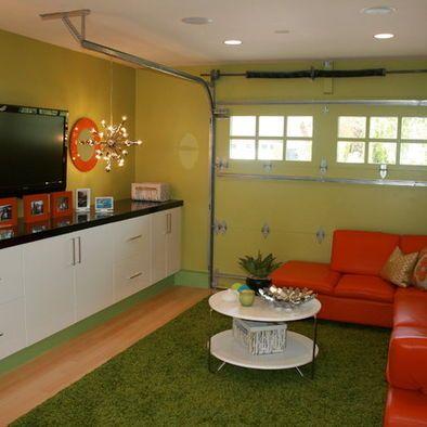 Garage Converted To Living Space With Original Door