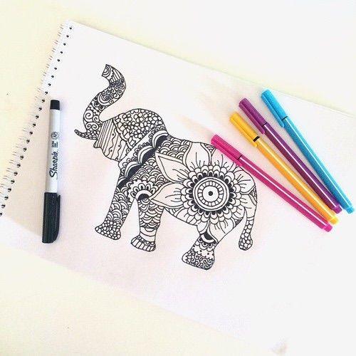 Creative Drawings Elephant
