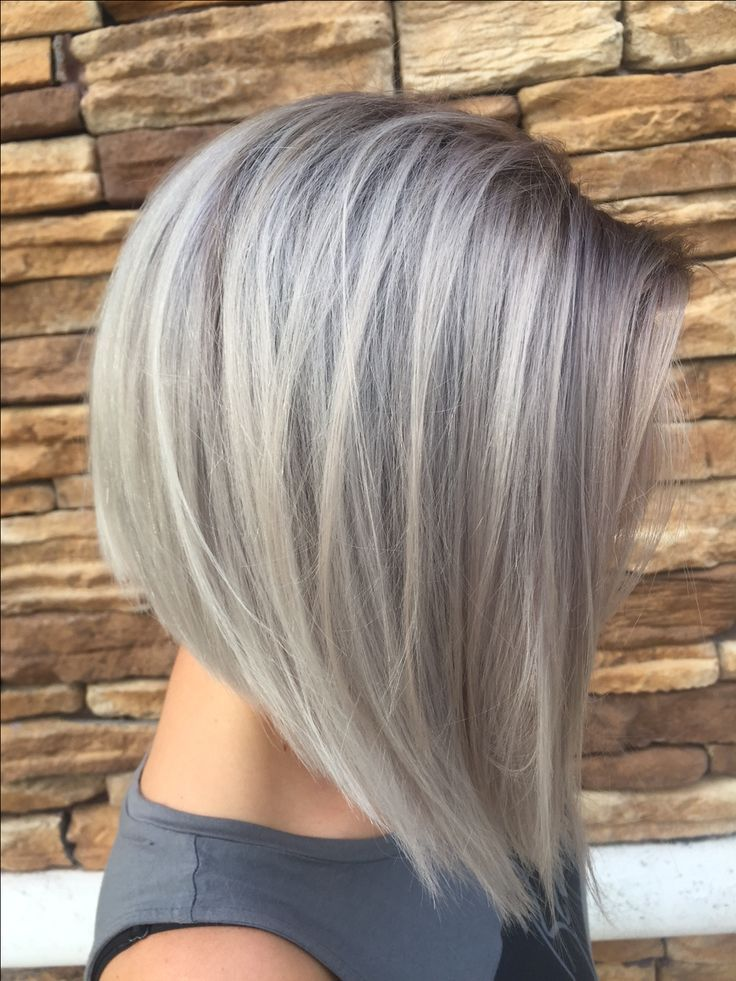 Short Grey Highlights Hair