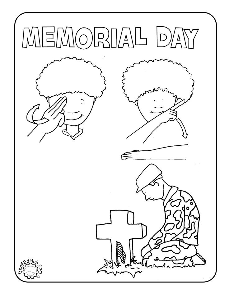 School Memorial Sunday Worksheets Day