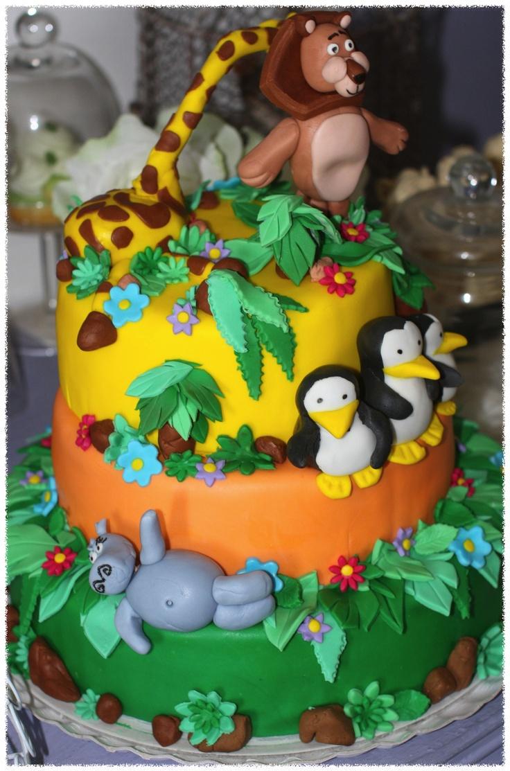 Madagascar Cake Madagascar Themed Party Pinterest