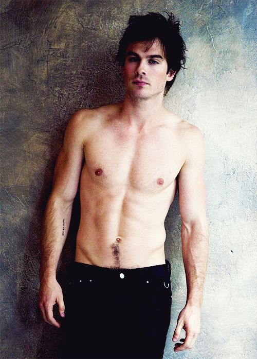 Damon Without His Shirt