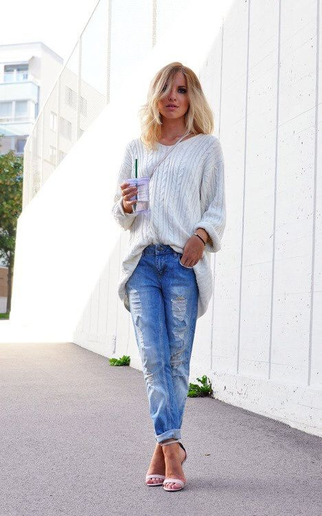Slouchy Cable Knit Oversized Sweater