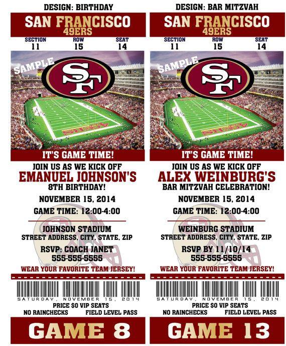 Free Printable 49ers Invitations