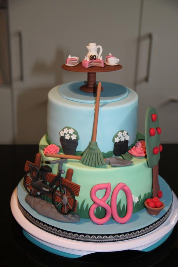 Cake Topper 80th Birthday Decorating Ideas