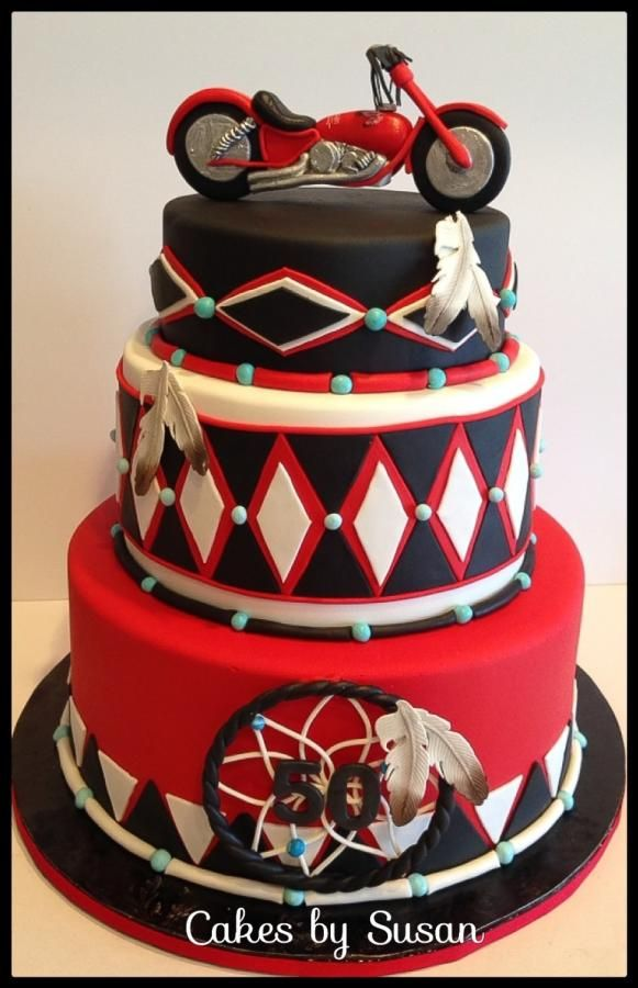 American Indian Motorcycle Cake Delightful Fun