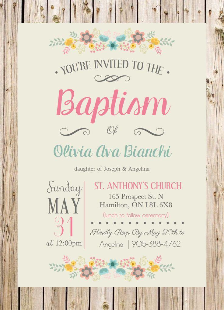 Baptism Birthday Invitation