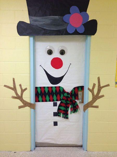 Best Diy Snowman Christmas Door Decoration Ideas Best