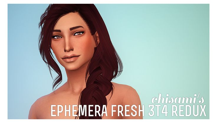 Fresh Smooth Skin Sims 4