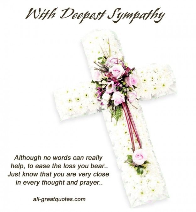 Condolences Deepest Our And And Your Family You Sympathy