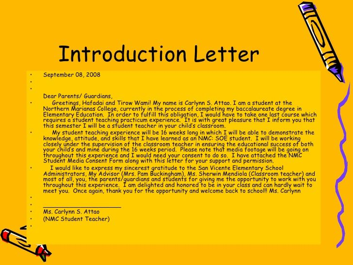 Physical Education Teacher Letter Of Intent
