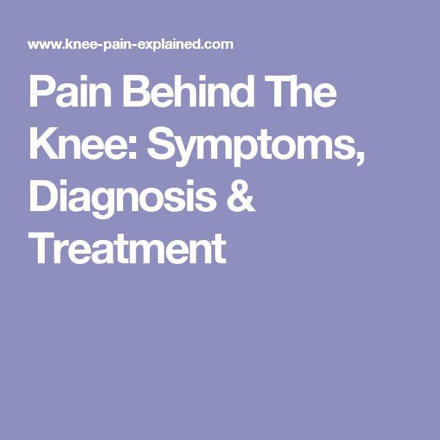 Knee Diagnose Pain Self
