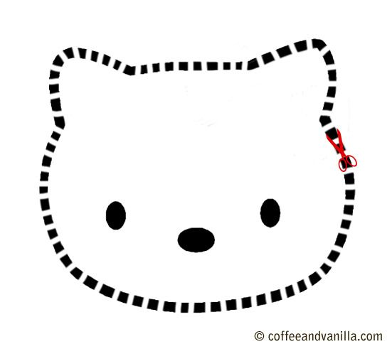 Cut Out Hello Kitty Cake Template
