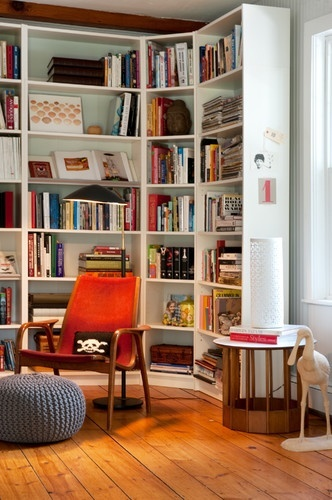 Billy Bookcases Can Even Wrap Around A Corner Space