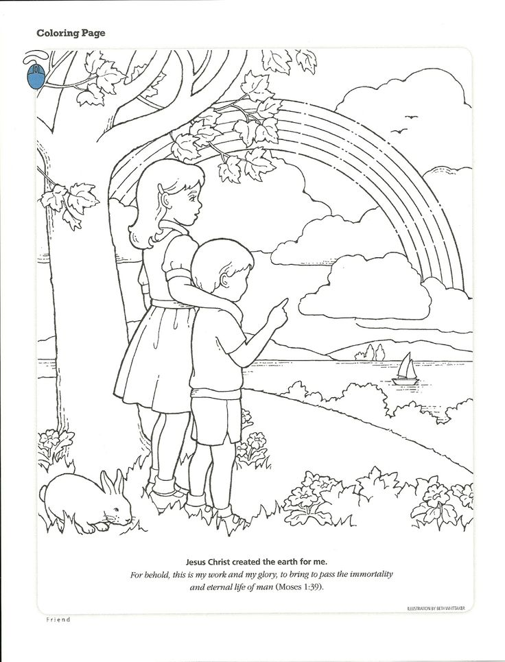 Choose The Right Coloring Pages Jesus Christ Lds