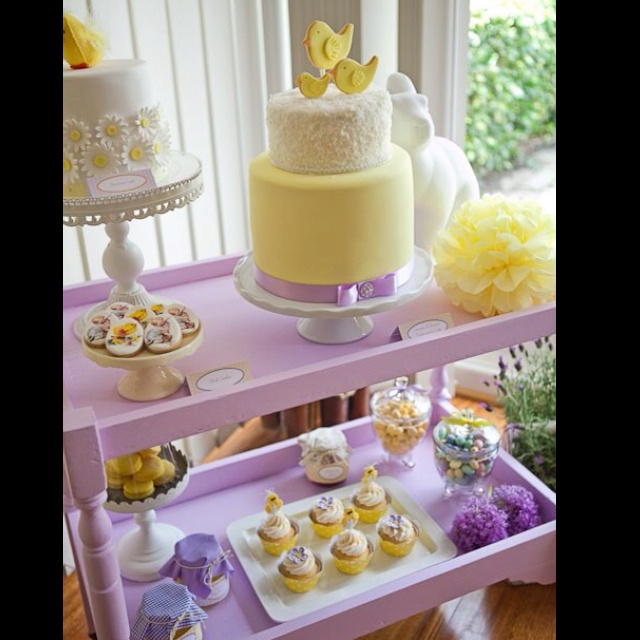 Baby And Lavender Shower Yellow