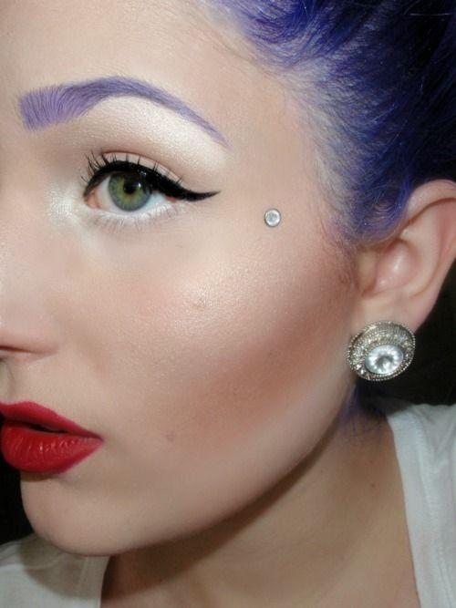 Piercing Face Dermal Scar