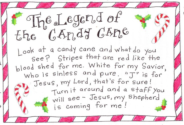 Candy Cane Story Printable