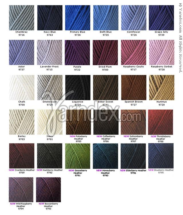 Caron Simply Soft Color Chart 2014