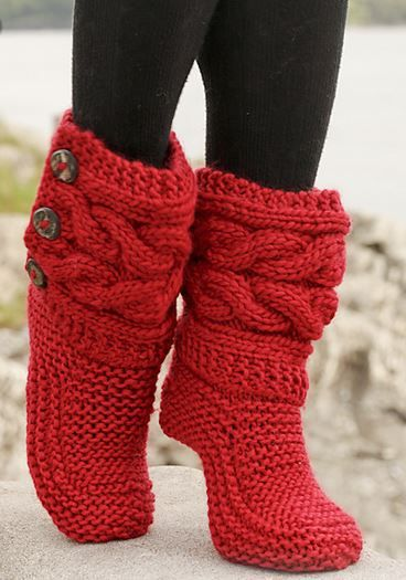 Knitted Slipper Boots Free Patterns For Men