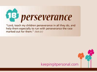 Virtue: Perseverance