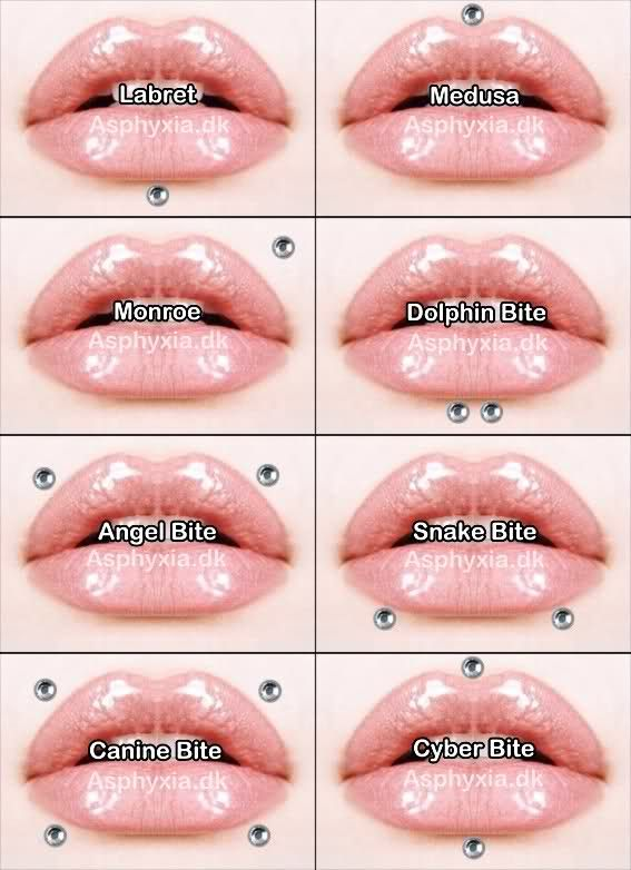 Names Different Face Piercings