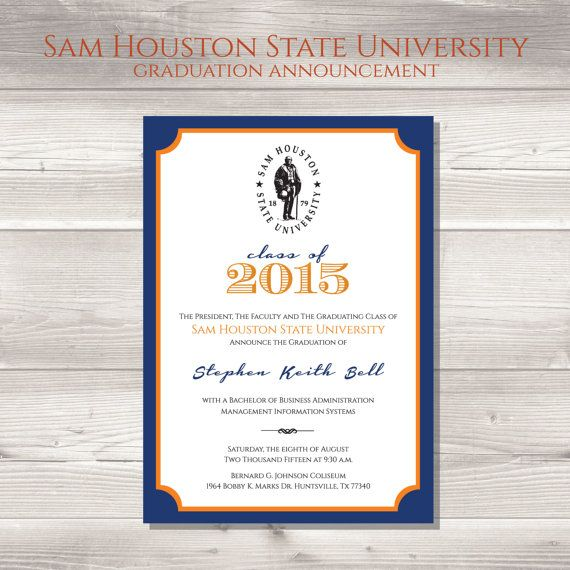 University Graduation Announcements