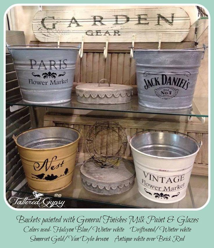 Bucket Christmas Ideas Tin Craft
