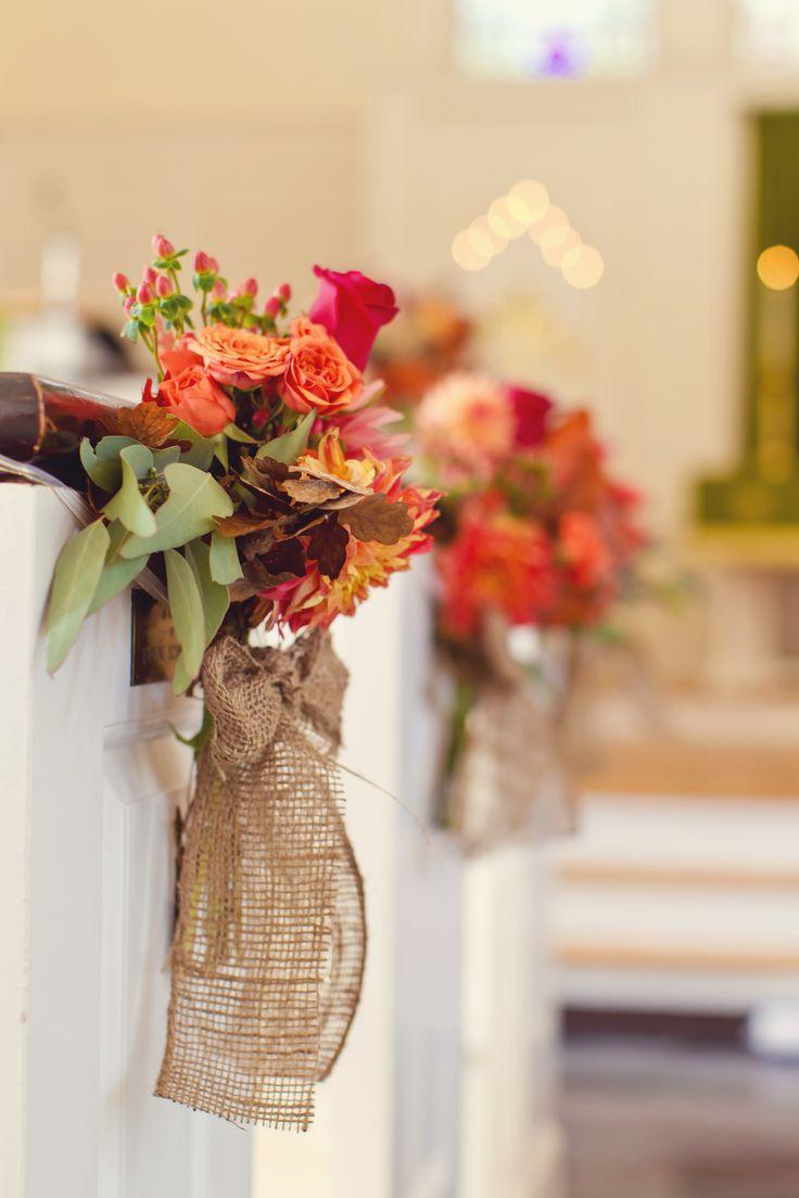 Fall Wedding Church Decorations