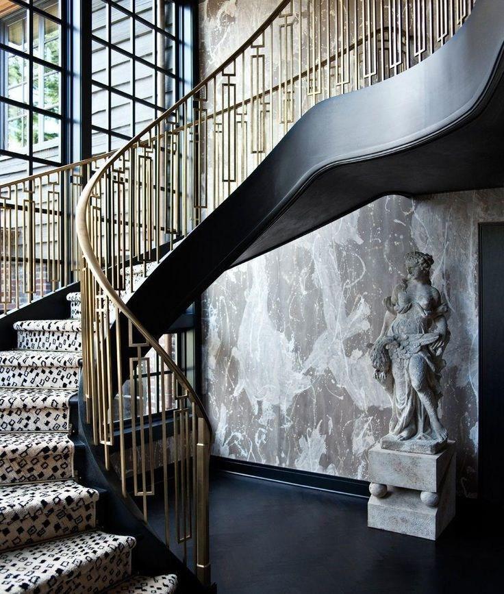 10 Images About Vintage Metal Housewares Furnishings On | Mid Century Modern Stair Railing