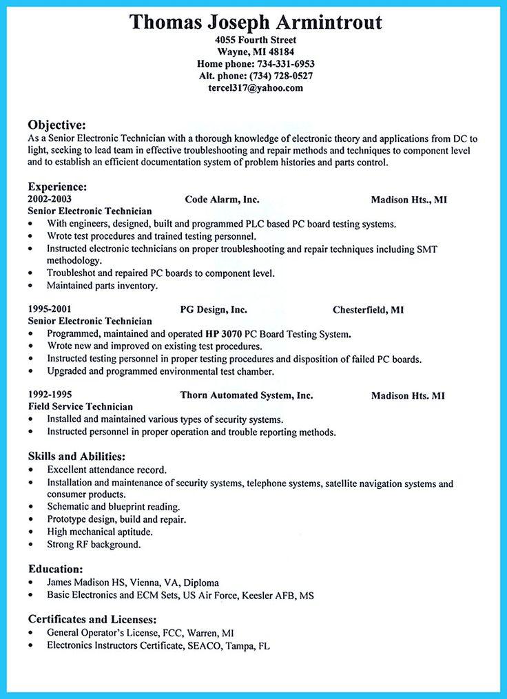 Security Alarm Technician Resume