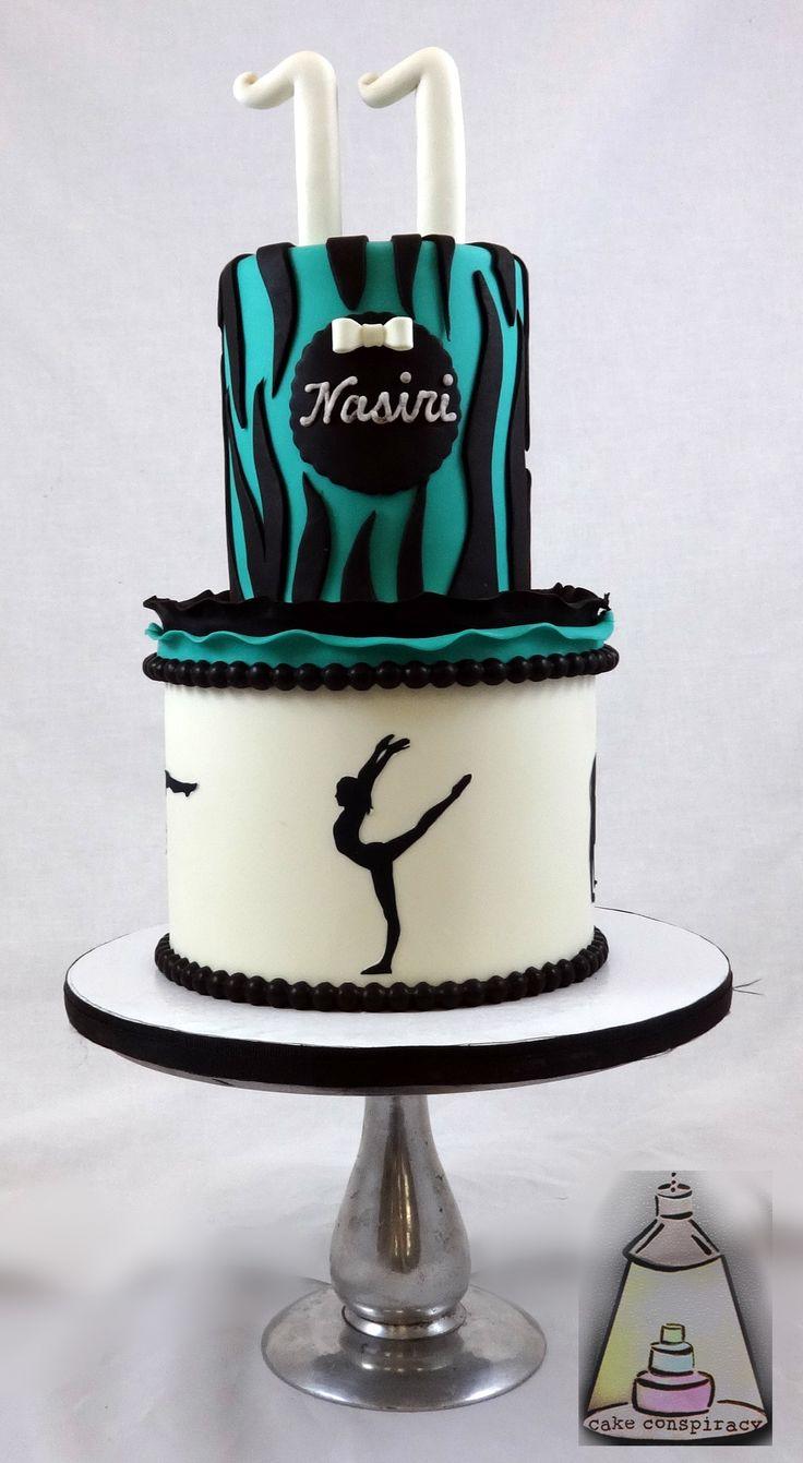 Gymnastics Birthday Cake Girl Birthday Cakes Pinterest