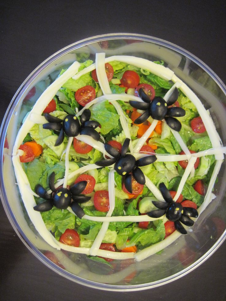Spider Salad For Halloween My Completed Diy Projects
