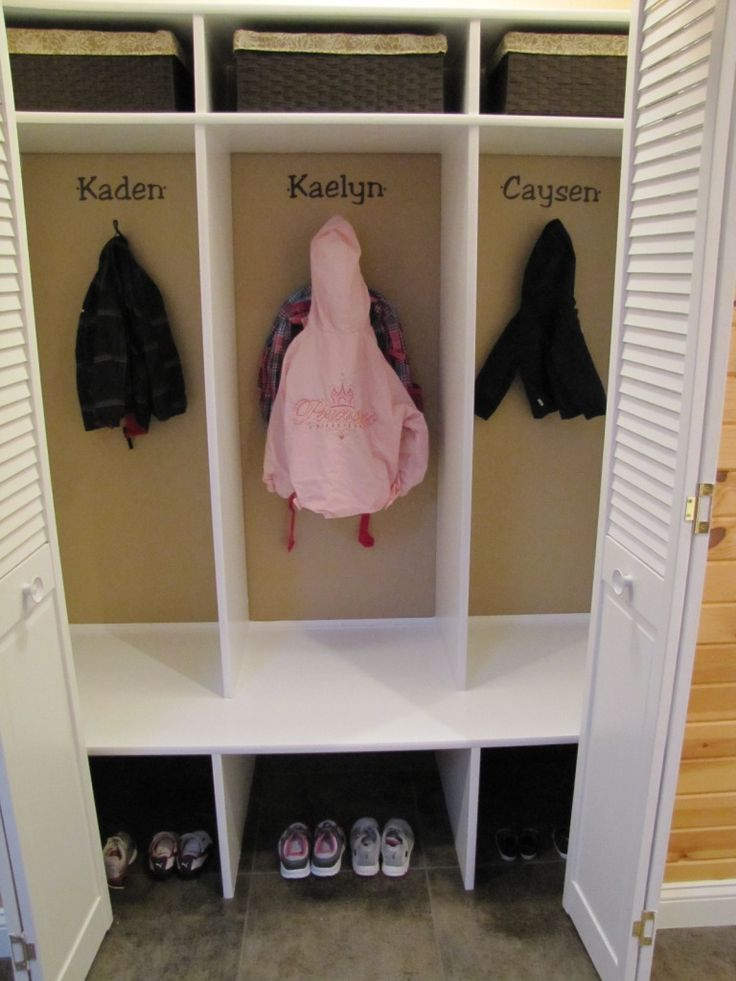 DIY Kids' Cubbies/Lockers for the home! | Kid's Room ...