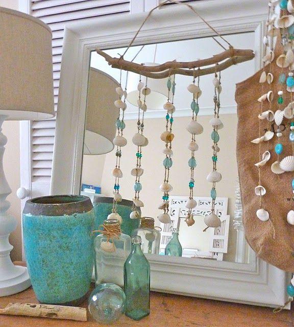 Blue Wooden Bead Garland