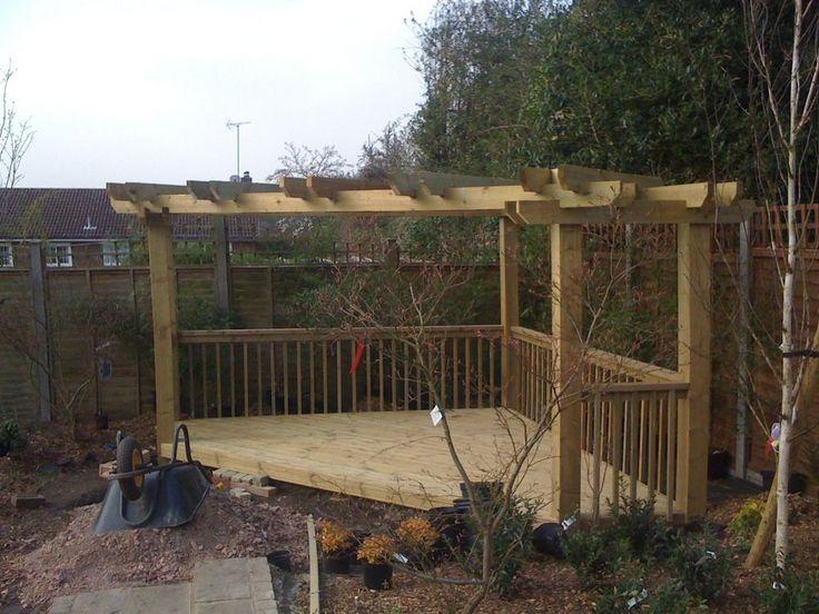 Details About Wooden Garden Corner Pergola Amp Decking
