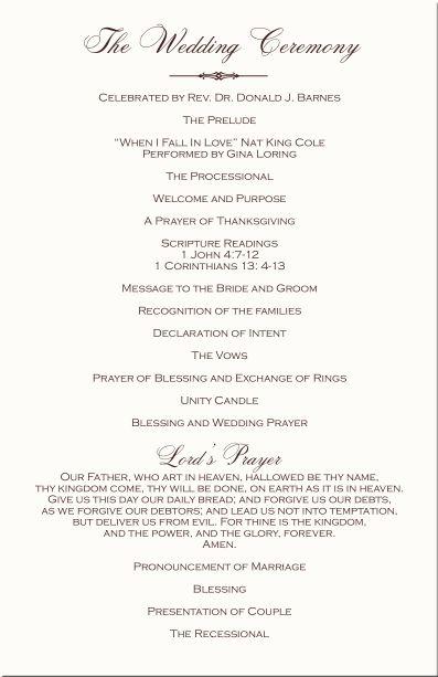 Christian Wedding Vows Sample