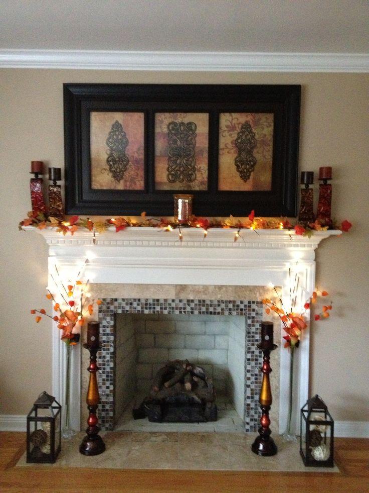 Ideas Fireplace Everyday Mantel Decorating