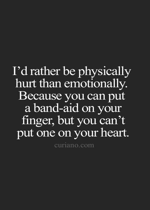 About Hurt Emotionally Quotes Being