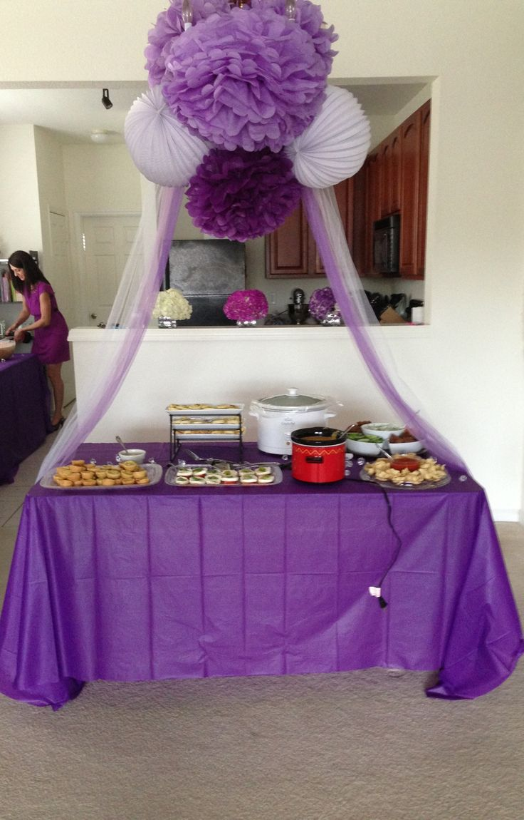 Purple And White Bridal Shower