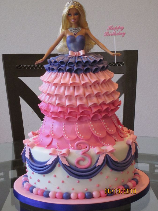 Barbie Cake Children S Birthday Cakes Cakes