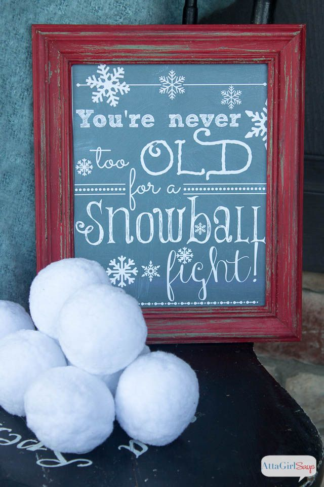 Getting Hit Snowball